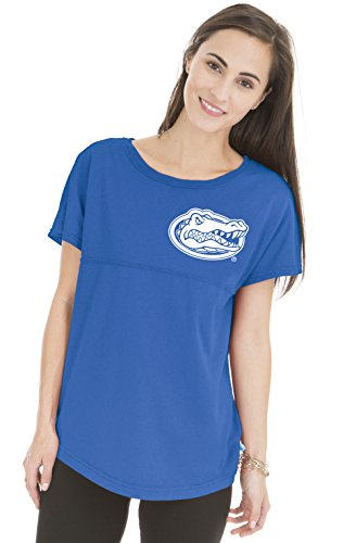 NCAA Florida Gators Women's Callie Short Sleeve Football Tee, Small, Reflex - Gators Tee Bound Florida