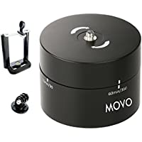 Movo Photo MTP1000 Panaromic 360°/ 60-Minute Time Lapse Tripod Head for Cameras, DSLRs, GoPros and Smartphones (Supports up to 4.4 LBS)