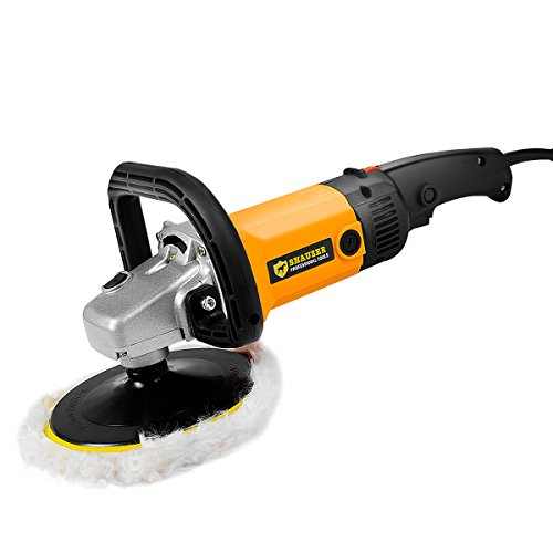 Goplus 7'' Electric Car Polisher Variable 6-speed Buffer & Sander w/ Bonnet Pad by Goplus (Image #9)