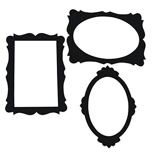 Fun Express - Black Picture Frame Cutouts for Party - Party Decor - Wall Decor - Cutouts - Party - 3 ()