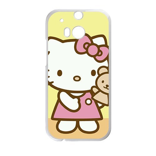 Happy Hello kitty Phone Case for HTC One M8 - Kitty Phone Hello Case One M8 Htc