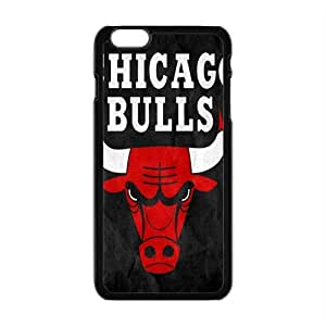 Chicago Bulls NBA Black Phone Case for iPhone plus 6 Case