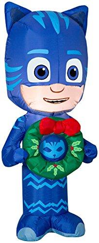 Gemmy 3.5' Airblown Catboy w/Wreath Christmas -