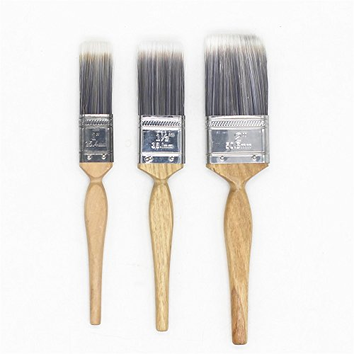 - TANG SONG Premium Bristle Brush Trim Paint Brush Paint & Chip Brush Set With Wood Handles For Wall, Art,Crafts,Paint,Stains,Varnishes,Glues & Gesso (Pack of 3,Assorted Size:1'',1.5'',2'')