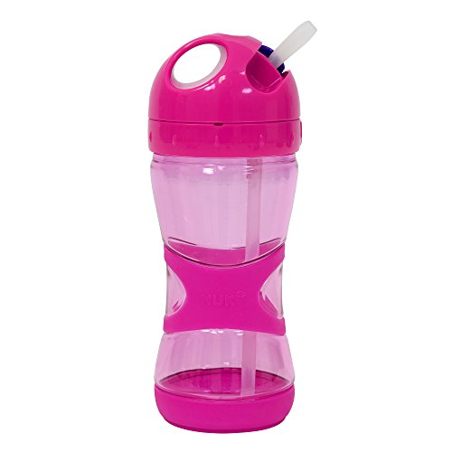 NUK Ultra Grip Straw Sippy Cup, Pink, 13oz 1pk