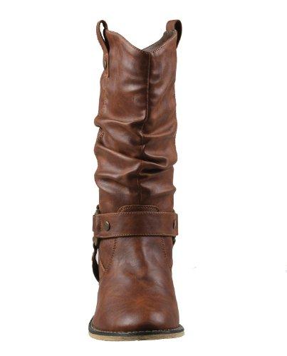 Tan Style 02 Wild Women Cowboy Refresh Boots Western wAB0qnO