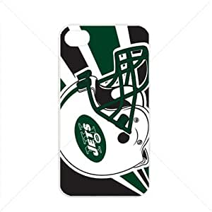 NFL American football New York Jets NY Jets Fans Apple iPhone 4 / 4s TPU Soft Black or White case (White)