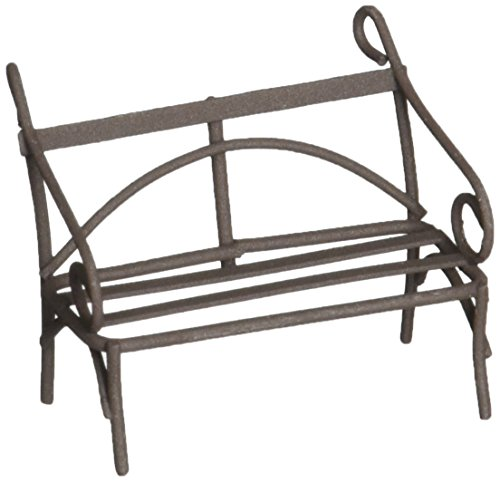Midwest diseño Mini banco de jardín de hierro, 5,1cm rústico