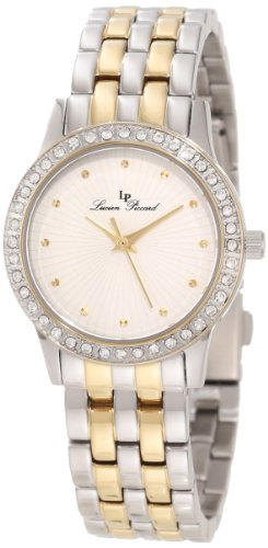 Lucien Piccard Women's 11696-SG-22S Monte Velan White Textured Dial Two Tone Stainless Steel Watch