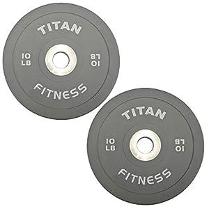 Titan Elite Olympic Bumper Plates 10 25 35 45 55 LB Steel Disc