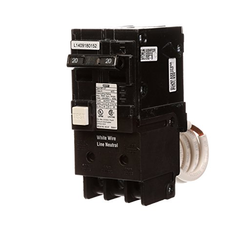 (Murray MP220GFA 20 Amp 2-Pole GFCI Circuit Breaker with Self Test & Lockout Feature)