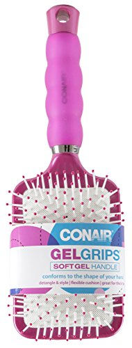 Conair Gel Grips (Conair Gel Grips Paddle B Size Ea Conair Gel Grips Paddle Brush 1ct (Colors & style may vary))