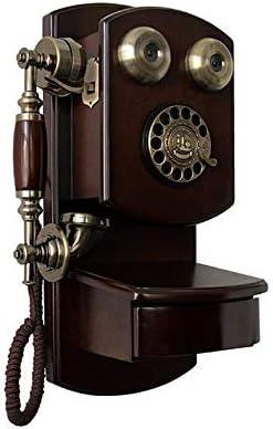 Yuanyuanliu Antiguo Teléfono De Pared De Madera, Rotativo, Vintage, Retro, con Cable, Teléfono Inalámbrico, Teléfono Fijo, Teléfono Fijo (Color : Rotary dial Version): Amazon.es: Hogar