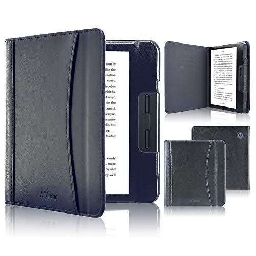 Kobo Libra H2O Case, ACdream Folio Smart Cover Leather Case with Auto Wake Sleep Feature for Kobo Libra H2O 2019 Release,