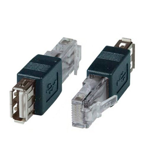 SinLoon(2-PACK) AF-RJ45 USB to USB Female to AF-8P8C Connector Crystal USB,USB Transfer Network Plug