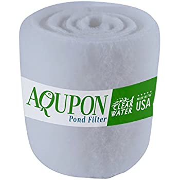 AQUPON Koi Pond Filter Media Pad - Cut to Fit Roll (Dye-Free/Blue Bonded) - 1.25 Inch Thickness (12 ft, Dye-Free)