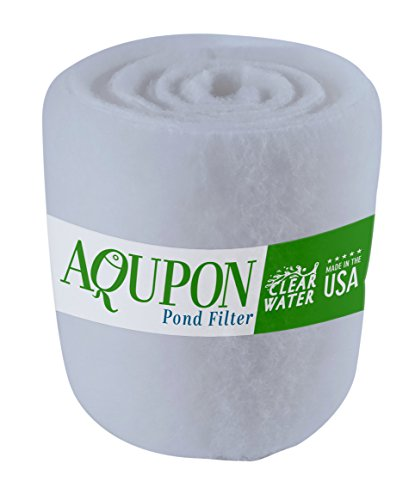 AQUPON Koi Pond Filter Media Pad – Cut to Fit Roll (Dye-Free/Blue Bonded) – 1.25 Inch Thickness (10 ft, Dye-Free)