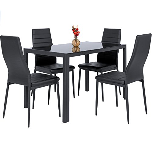 Best dining table sets for sale for Leather chairs for kitchen table