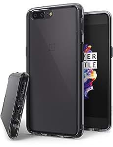 Ringke Funda OnePlus 5 [Fusion] Cristalino Transparente al Dorso del PC y Frente al TPU Carcasa Protectiva con Armadura Mejorada para OnePlus5 - Humo ...