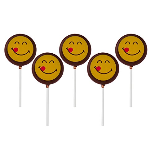 Smiley World Emoji Face Expressions Dairy Milk Chocolate Lollipops Sucker