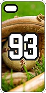 Baseball Sports Fan Player Number 93 White Rubber Decorative iphone 6 plus Case by icecream design
