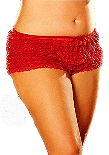 (Shirley of Hollywood Women's Rows and rows lace ruffle Short)