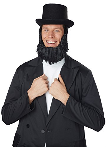 Honest Abe Lincoln Beard (California Costumes Men's Honest Abe Getup, Black, One Size)
