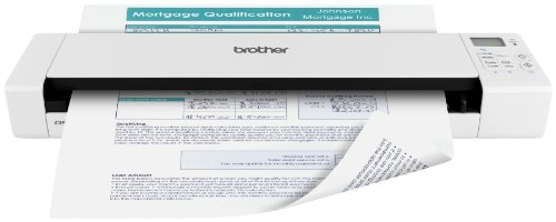 Brother Wireless Mobile Color Page Scanner, DS-920DW, Wi-Fi Transfer, Fast Scanning Speeds, Compact and Lightweight, White