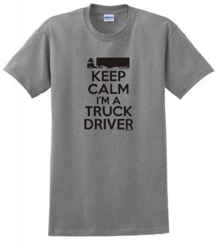 Keep Calm I'm a Truck Driver T-Shirt 2XL Sport (Freightliner Apparel)