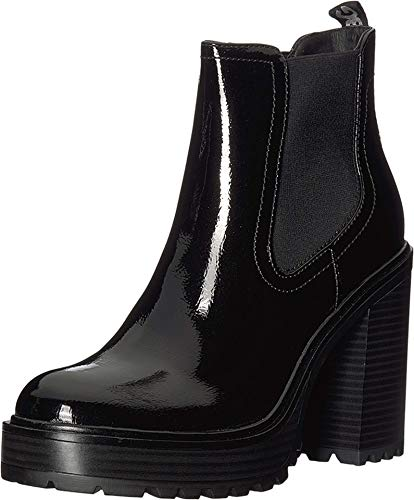 G by Guess Starly Platform Ankle Boots, Black Shine, 9.5 US