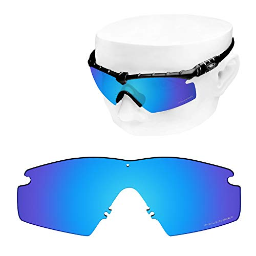 OOWLIT Replacement Lenses Compatible with Oakley Si M Frame 2.0 Sunglass Ice Combine8 Polarized