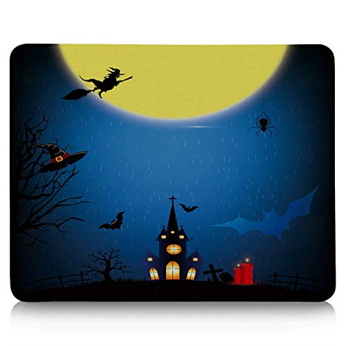 Gaming Mouse Pad, Halloween Night Catle and Red Candle Non-Slip Rubber Base Mousepad Rectangle Mouse Mat for Laptop, Computers, Office & -