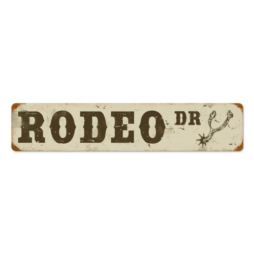 Rodeo Drive Street Way Road Classic Vintage Metal Sign 28 X 6 Steel Not - Drive Stores Rodeo