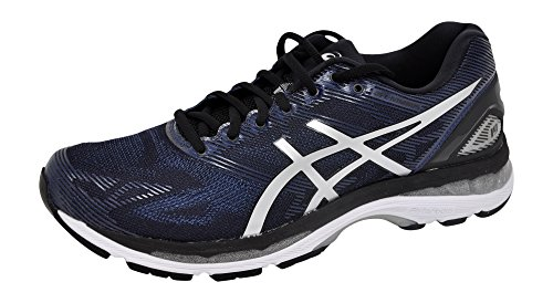 ASICS Men s Gel-Nimbus 19 Running Shoe Peacoat Silver Black ... cad47e569b0df