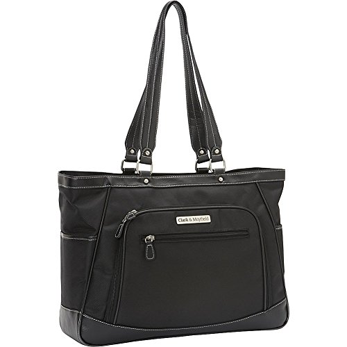 Clark and Mayfield Sellwood Metro XL 17'' Laptop Tote Bag, Computer Bag in Black by Clark & Mayfield
