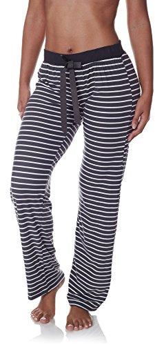 Sleep & Co. Women's Super Soft Casual Lounge Sleepwear Stripes Print Long Pajama Pant Charcoal Heather Small - Stripe Pajama Pants Sleepwear
