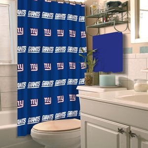 The Northwest Company Northwest NOR-1NFL903000081RET New York Giants NFL Shower Curtain - Logo Nfl Shower Curtain
