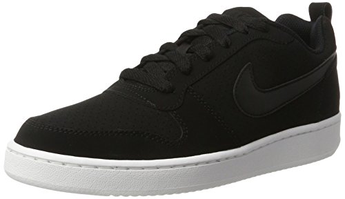 NIKE Women's Court Borough Low Sneaker, Black/Black/White, 9.5 B(M) US by NIKE
