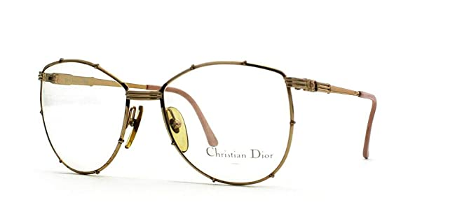 3909a1b84ae Christian Dior 2472 41 Gold Square Certified Vintage Eyeglasses Frame For  Womens  Amazon.co.uk  Clothing