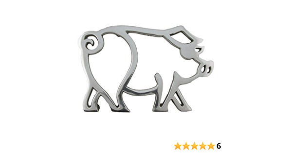 Treasure Gurus Aluminum Pig Trivet Hot Kitchen Stove Pot Or Pan Holder Kitchen Dining