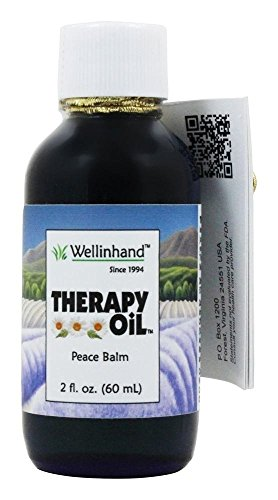 Therapy Oil Cobalt Glass Bottle, 2 oz, Wellinhand Action Remedies - Hand Remedy