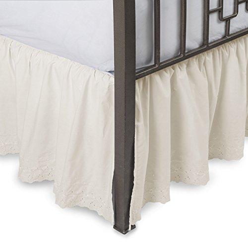 Eyelet Bed Ruffle - Shop Bedding Eyelet Ruffled Bed Skirt w/Split Corners, 18