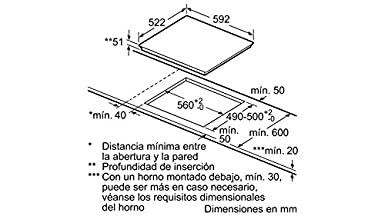 Balay 3EB864ER - Placa (Integrado, Induction hob, Vidrio, Sin ...
