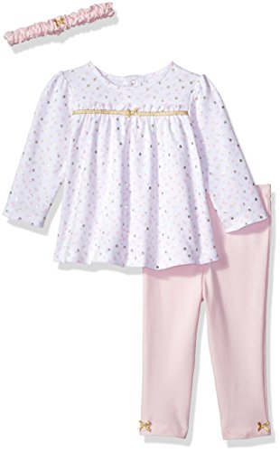 Little Me Baby Girls' Tunic Legging Set with Headband