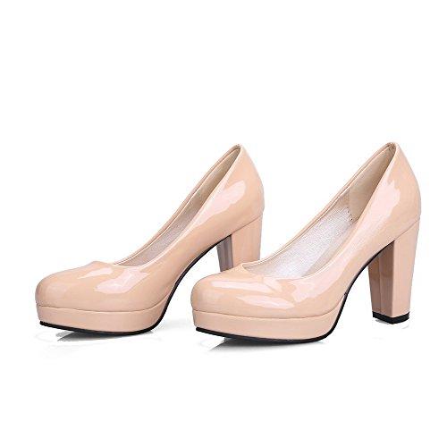 Albicocca Flats Tonda VogueZone009 Maiale Alto di Pelle VogueZone009 Tonda Donna Ballet   c40e3d