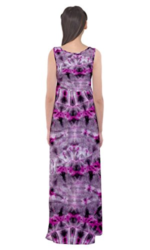 Dye Dye Vestito Rosa Tie Grigio Vita V2 Cowcow Womens Maxi Dell'impero Tie ExSFqEwT