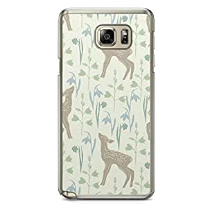 Baby Deer Pattern Samsung Galaxy Note 5 Transparent Edge Case - Animal Patters Collection