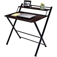New 2Tier Folding Computer Desk Home Office Furniture Workstation Table Study