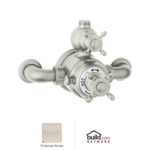 Rohl U.5552X Perrin and Rowe Exposed Thermostatic Shower Valve Trim (Trim Only), Polished Nickel