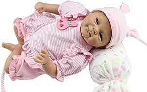 iCradle Muñecas Reborn Bebé Realista Silicona Suave de Vinilo 18 Pulgadas 45cm Lifelike Bebé Reborn Niña Nacido Regalo de Juguete